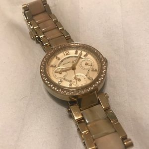 Michael Kors gold watch with horn details